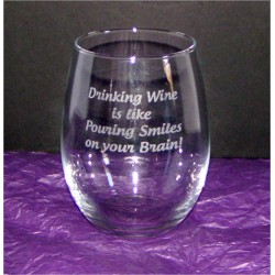 "Stemless Wine Glass - ""Drinking Wine"""