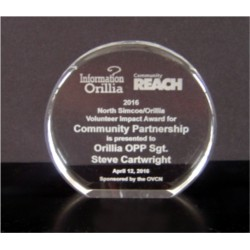 Round Crystal Clear Acrylic Award